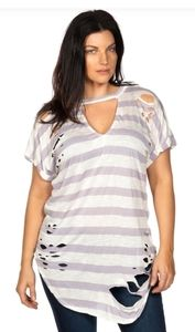 Love J cut out tee plus sized.